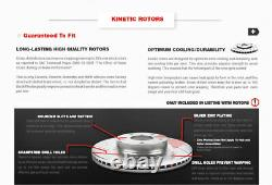 For Hyundai Sonata Kia Optima Front+Rear Brake Calipers And Rotors +Ceramic Pads