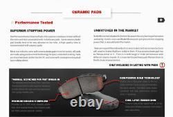 Front+Rear Brake Calipers + Rotors +Ceramic Pads For 2007 2010 Hyundai Elantra