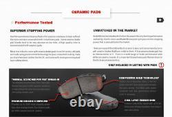 Front+Rear Brake Calipers Rotors Pads For 2002 2003 2004 2005 2006 2007 IMPREZA