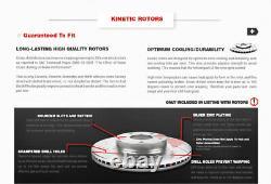 Front+Rear Red Brake Calipers And Rotors + Ceramic Pads For Explorer Flex Taurus