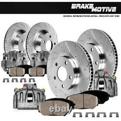 Front and Rear Brake Calipers and Rotors & Pads For 2001 2005 BMW 325Xi