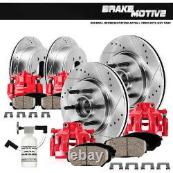 Front and Rear Calipers & Rotors & Pads For Pair 2005 2008 FORD F150 RWD 6 LUG