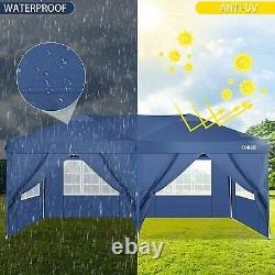 Gazebo 3x3/3x6 Heavy Duty Waterproof Tent Folding Marquee Family Party withsides