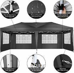 Gazebo 3x3/3x6m Heavy Duty Waterproof Tent Marquee Garden Wedding Party with4Sides