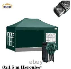 HERCULES HEAVY DUTY POP UP GAZEBO COMMERCIAL GRADE 3m x 4.5m STALL, TENT, AWNING
