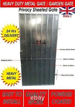 Heavy Duty Gate, Steel Security Door, Gate. Metal Garden Side Gate With Pad Lock