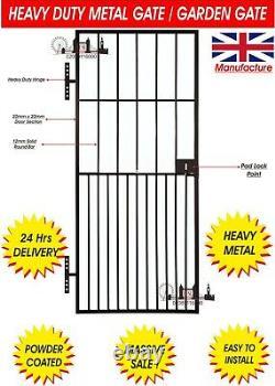 Heavy Duty Steel Security Door, Gate, Metal Garden Side Gate / Wrought Iron Gate