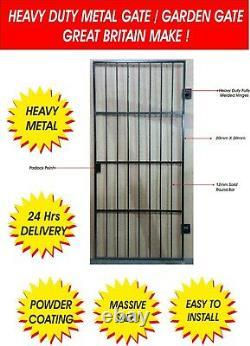 Heavy Duty Wrought Iron Gate / Gate. Metal Garden Side Gate / Security Gate