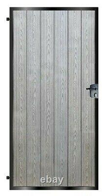 High Quality Metal Framed Composite Clad or Timber Infill Pedestrian Side Gates