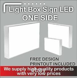 Illuminated Light Box (2sided)+black powder coated frame 80 cmx80cm + delivery