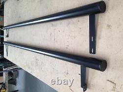 LWB VW T5 MATT black powder coated side bars SLASH CUT ENDS easy fit