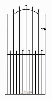 Malaca Ball Top Tall Garden Side Gates 762mm to 1220mm GAPS x 1943 H metal iron