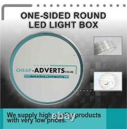 One sided Round LED Projected Signs 60 cm Custom Shop Sign LightBox Display