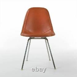 Orange Herman Miller Vintage Original Eames DKX Dining Wire Side Chair