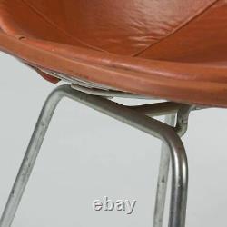 Orange Pair (2) Herman Miller Vintage Original Eames DKX Wire Side Chairs