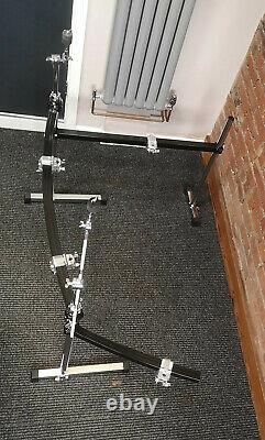 Pearl Icon Curved 3 Sided Drum Rack 4 Clamps, Boom Arms Powder Coated
