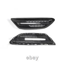 Real Carbon Fiber Air Flow Side Fender Vents Mesh Grille for BMW 5 F10 M5 Sedan