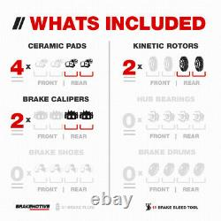 Rear Brake Calipers +Rotors & Pads For Century Regal Impala Monte Carlo Intrigue