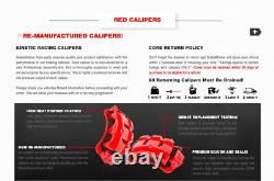 Rear Red Calipers And Rotors + Brake Pads For Toyota Camry Avalon Solara