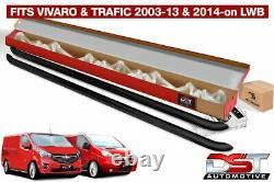 Renault Trafic 2001-14 Black Sport Line Side Bars Lwb Powder Coated Oem Quality