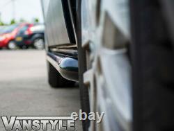 Renault Trafic 2014 Black Sportline Side Bars Lwb Steel Powder Coated Style