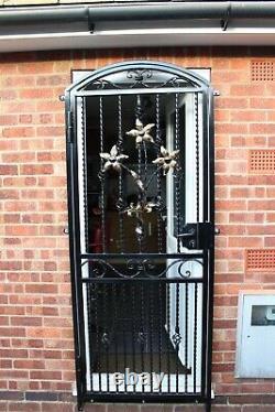 Security Doors. Steel Iron Metal Gate. Garden Gate. Side Gate. Handmade. Handforged