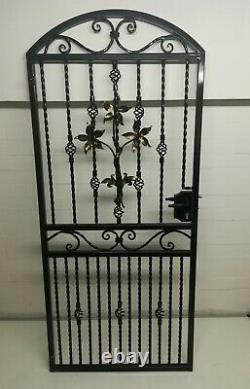 Steel Iron Metal Gate, Security Gate, Garden Gate. Side Gate. Handmade. Handforged