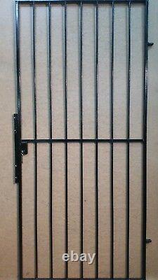 Steel Security Door, Gate. Metal Garden Side Gate With Key Lock- Powder Coated