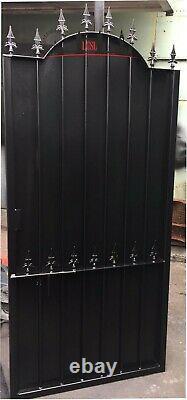Steel Security Door, Gate. Metal Garden Side Gate With Sheet Privacy, Powder Coat