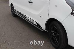 Swb Black Side Bars Powder Coated Side Steps Pair For Vauxhall Vivaro 2014+