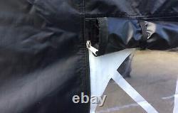 TITAN GAZEBO HEAVY DUTY POP UP MARQUEE TENT 3m x 3m 40mm HEX WITH ZIPPER SIDES