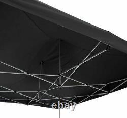 TORPEDO HEAVY DUTY POP UP GAZEBO TENT 3m x 4.5m BLACK WITHOUT SIDES
