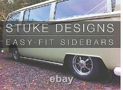 VW T2 Bay window PAIR MATT Black Powder Coated side bars top quality easy fit