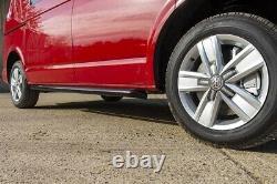 VW T5 T6 Transporter Black Powder Coat Sportline Style Side Bars Guard SWB 60m