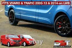 Vauxhall Vivaro 2001-14 Black Sport Line Side Bars Lwb Powder Coated Oem Style