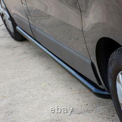 Vauxhall Vivaro 2001-14 Black Sportline Side Bars Lwb Steel Powder Coated Style