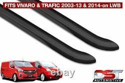 Vauxhall Vivaro 2014 Black Sport Line Side Bars Lwb Powder Coated Oem Style
