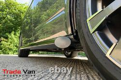 Vauxhall Vivaro Black Powder Coated Slash Cut Sidebars Side-tube 76mm Swb