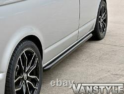 Vw T5 Caravelle Lwb Sportline Black Finish Side Bar Oem Quality Powder Coat