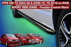 Vw T5 T6 Transporter Swb Sportline Black Finish Side Bar Oem Quality Powder Coat