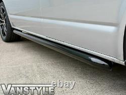 Vw T5 Transporter Lwb Sportline Black Finish Side Bars Oem Quality Powder Coat