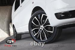 Vw T6 Transporter Side Bars Black Sportline Lwb Oem Quality Powder Coated