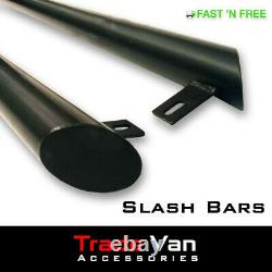 Vw Transporter T5/t6 Black Powder Coated Slash Cut Sidebars Side-tube 76mm Swb
